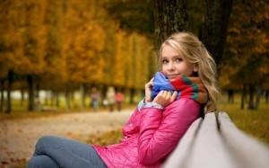 Девушка в парку