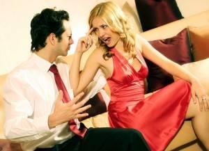 Парень ссориться с девушкой