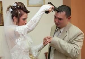 Невеста угрожает жениху