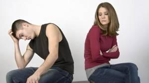 Парень и девушка посорились
