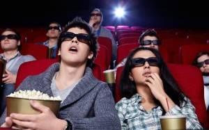 Молодая пара в кино